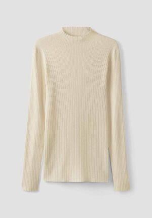 hessnatur Damen Pullover aus Seide mit Baumwolle - naturfarben - Größe 34