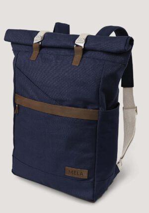 hessnatur Damen Rucksack Ansvar aus Bio-Baumwolle - blau - Größe One Size