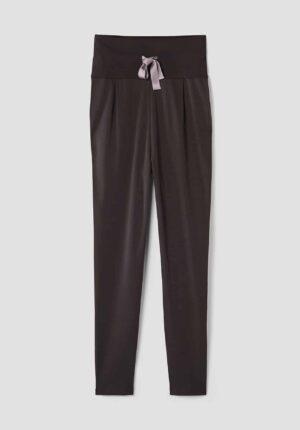 hessnatur Loungewear Yoga-Hose aus Bio-Baumwolle - braun - Größe 34