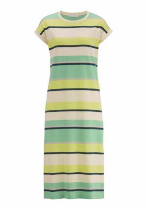 hessnatur Damen Jersey-Kleid aus Bio-Baumwolle - grün - Größe 34