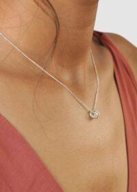 Silver Mini Russian Ring Necklace