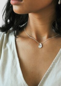 Silver Small Organic Medallion Necklace