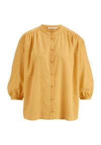 hessnatur Damen Crêpe-Bluse aus Bio-Baumwolle - gelb - Größe 42