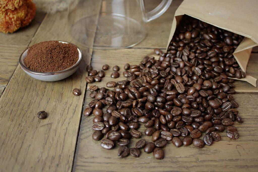Nahaufnahme Zero Waste Kaffebohnen
