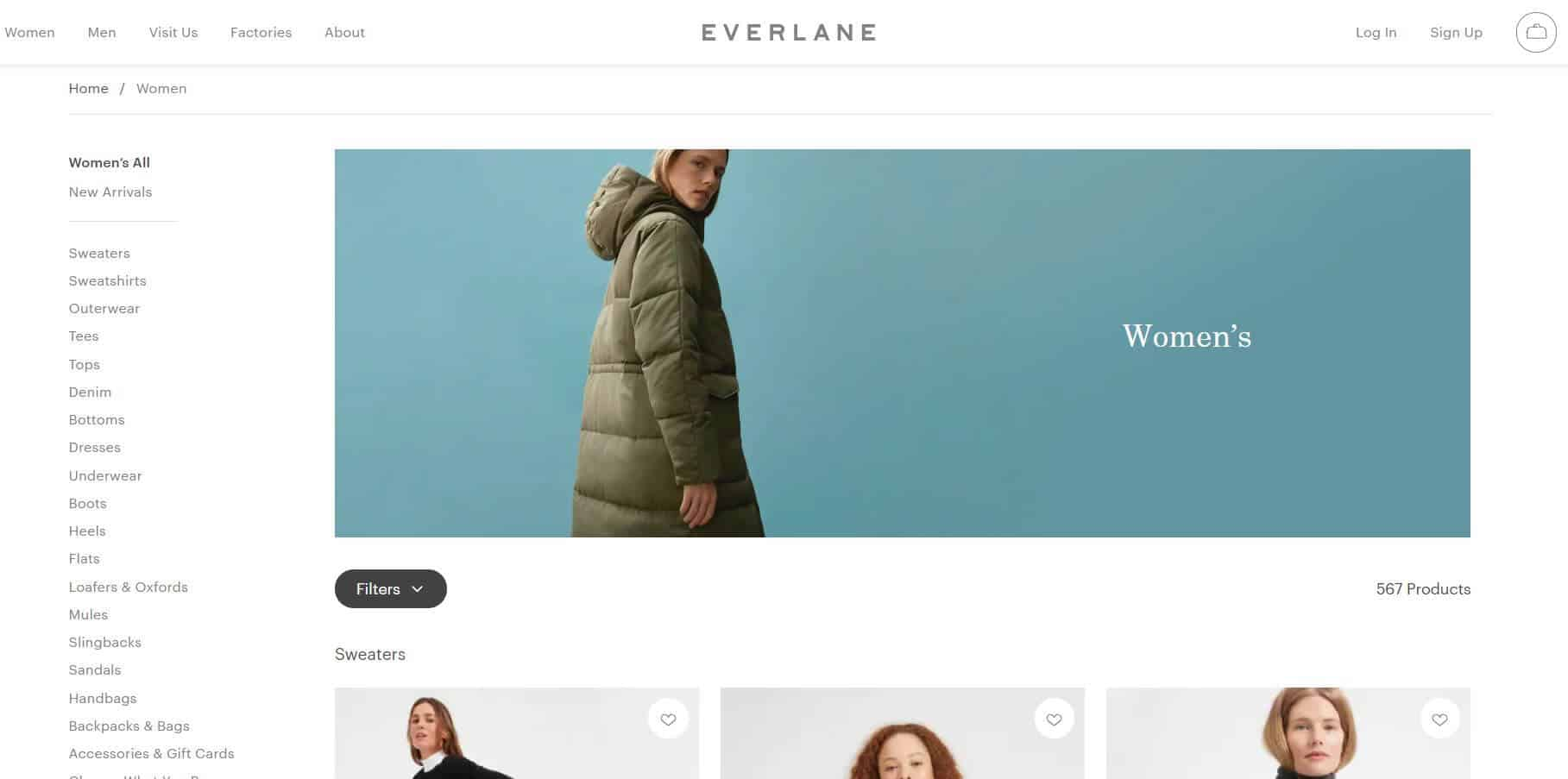 Everlane Screenshot