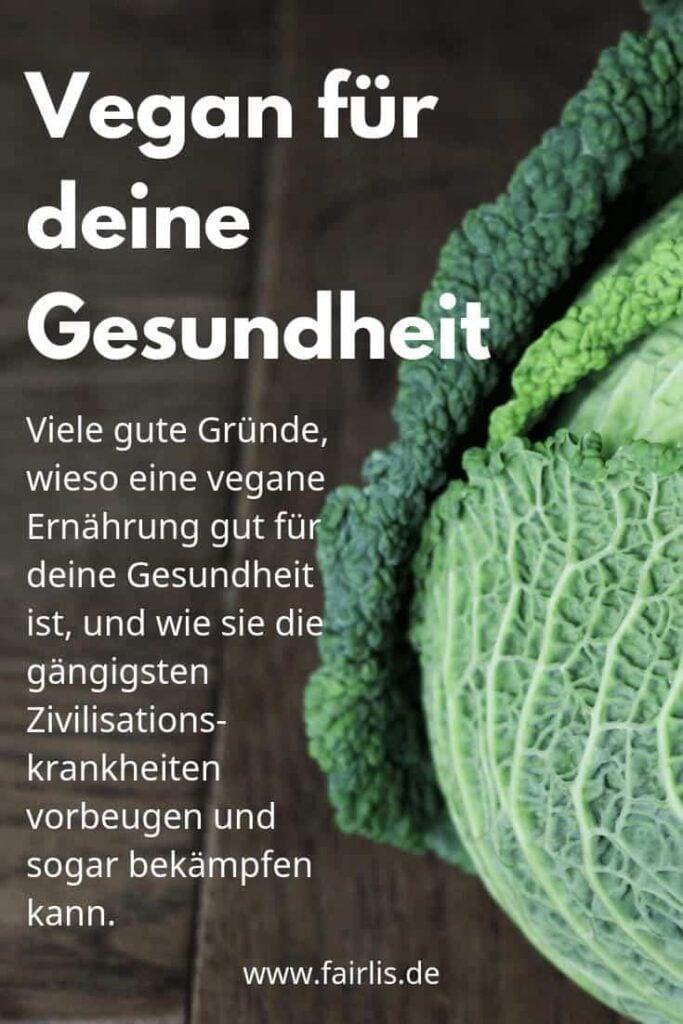 Pin Vegane Ernährung für die Gesundheit