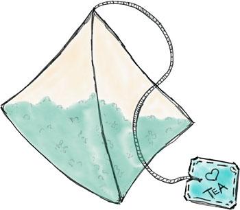 Pyramiden Teebeutel Zeichnung