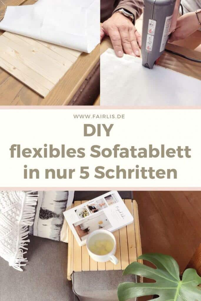 DIY Anleitung für ein flexibles Sofatablett