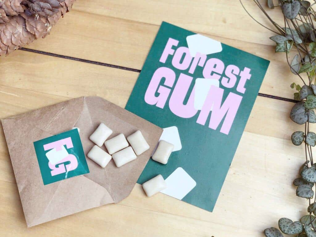 Forest Gum Plastikfreie Kaugummis mit Minze Probepackung