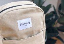 Hampley Rucksack in Natur Vorderansicht mit Außentasche