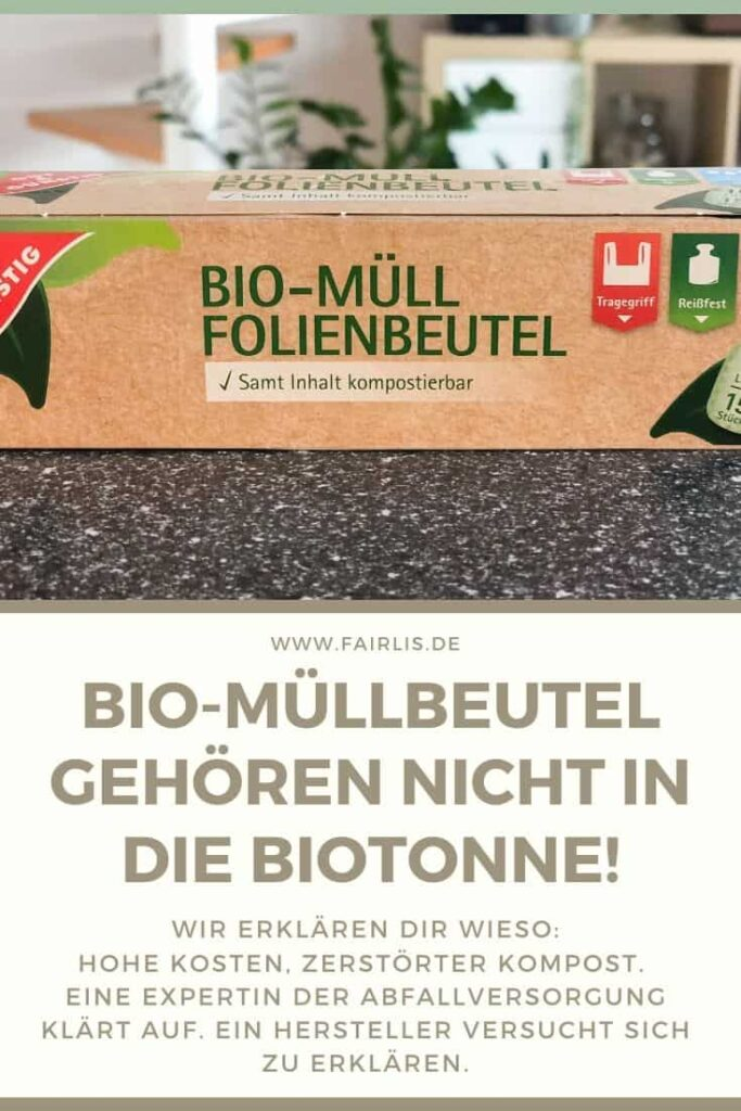 Kompostierbare Müllbeutel aus Biokunststoff gehören nicht in die Biotonne