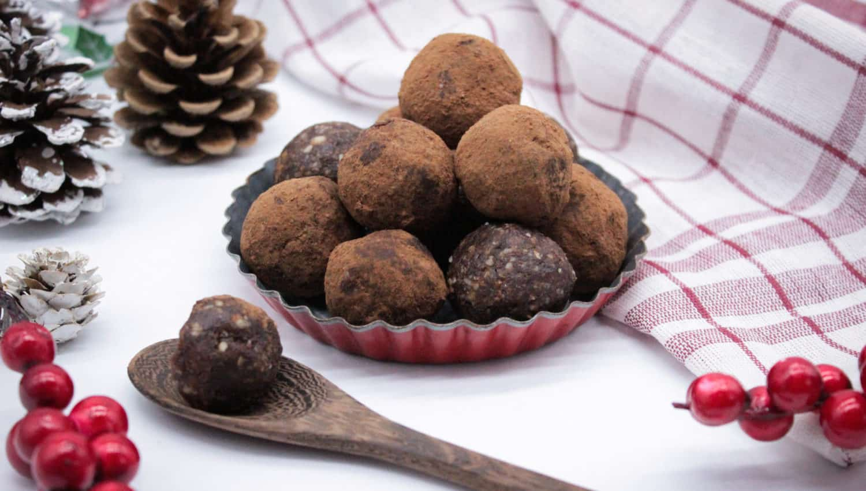Gesunde Lebkuchen Energy Balls Weihnachten Rezept