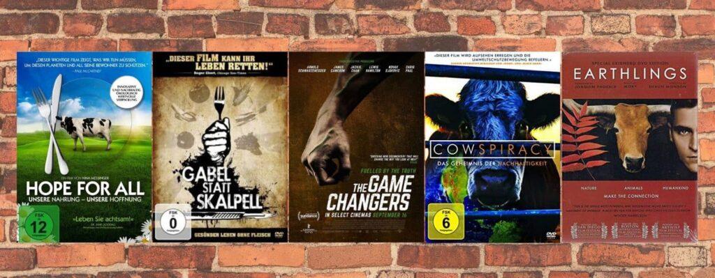 Die 5 besten Dokumentationen über vegane Ernährung - Hope for all, Forks over Knives, The Game Changers, Cowspiracy, Earthlings