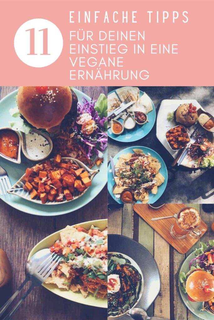Pinterest Grafik 11 Tipps Vegane Ernährung