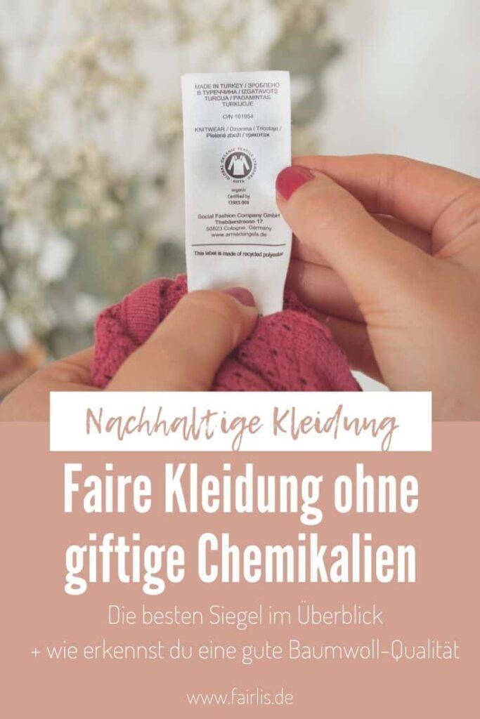 Faire Kleidung ohne giftige Chemikalien - Die besten Siegel im Überblick