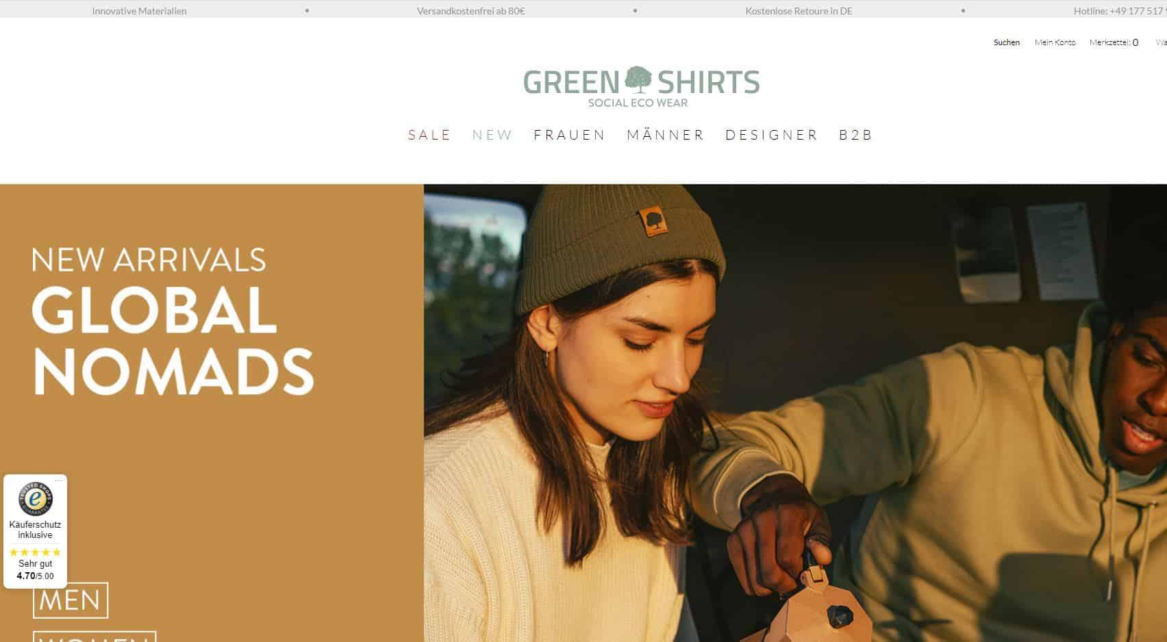 green shirts screenshot