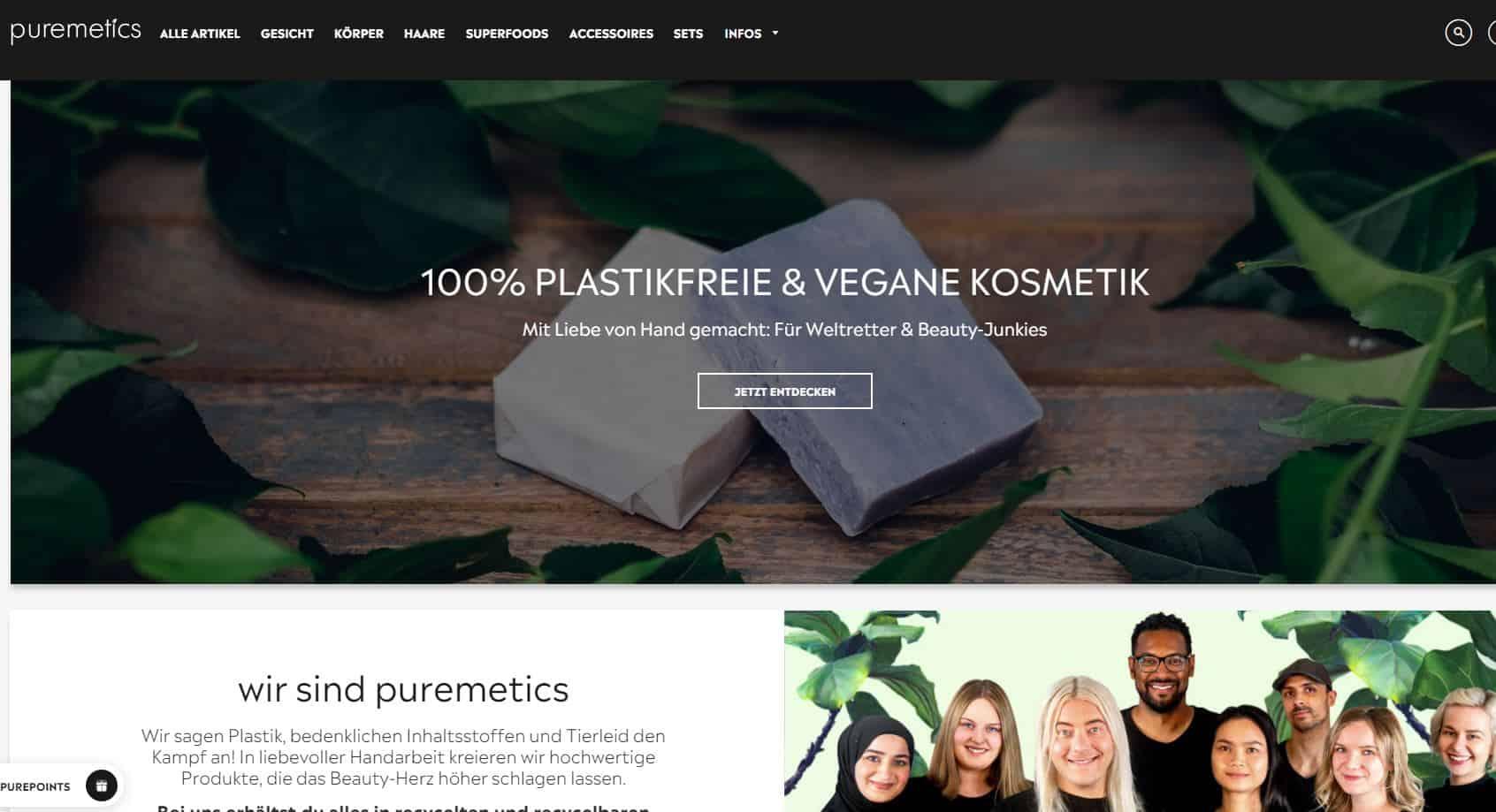Puremetics screenshot