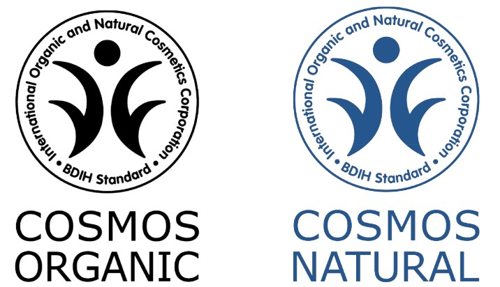 BDIH Cosmos Organic und Cosmos Natural Naturkosmetik Siegel