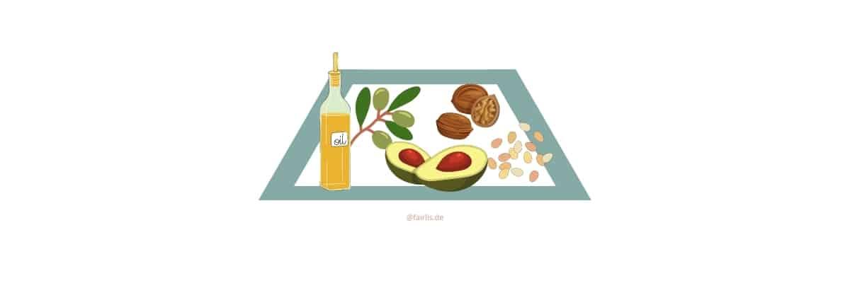 Fette & Öle in der veganen Ernährungspyramide