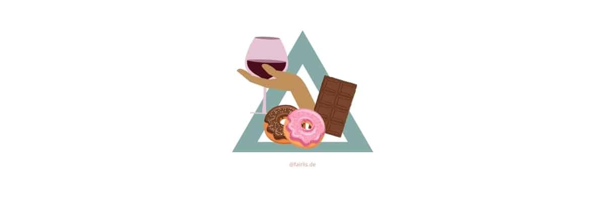Genussmittel in der veganen Ernährungspyramide