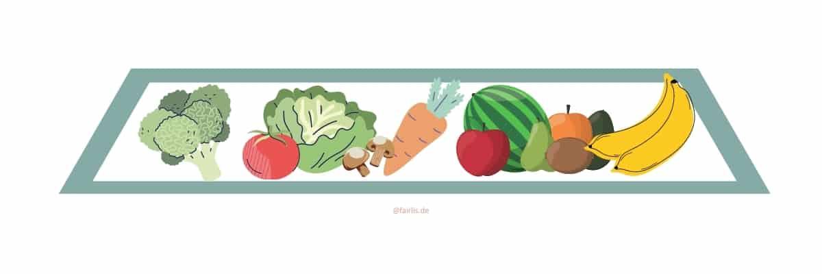 Obst & Gemüse in der veganen Ernährungspyramide