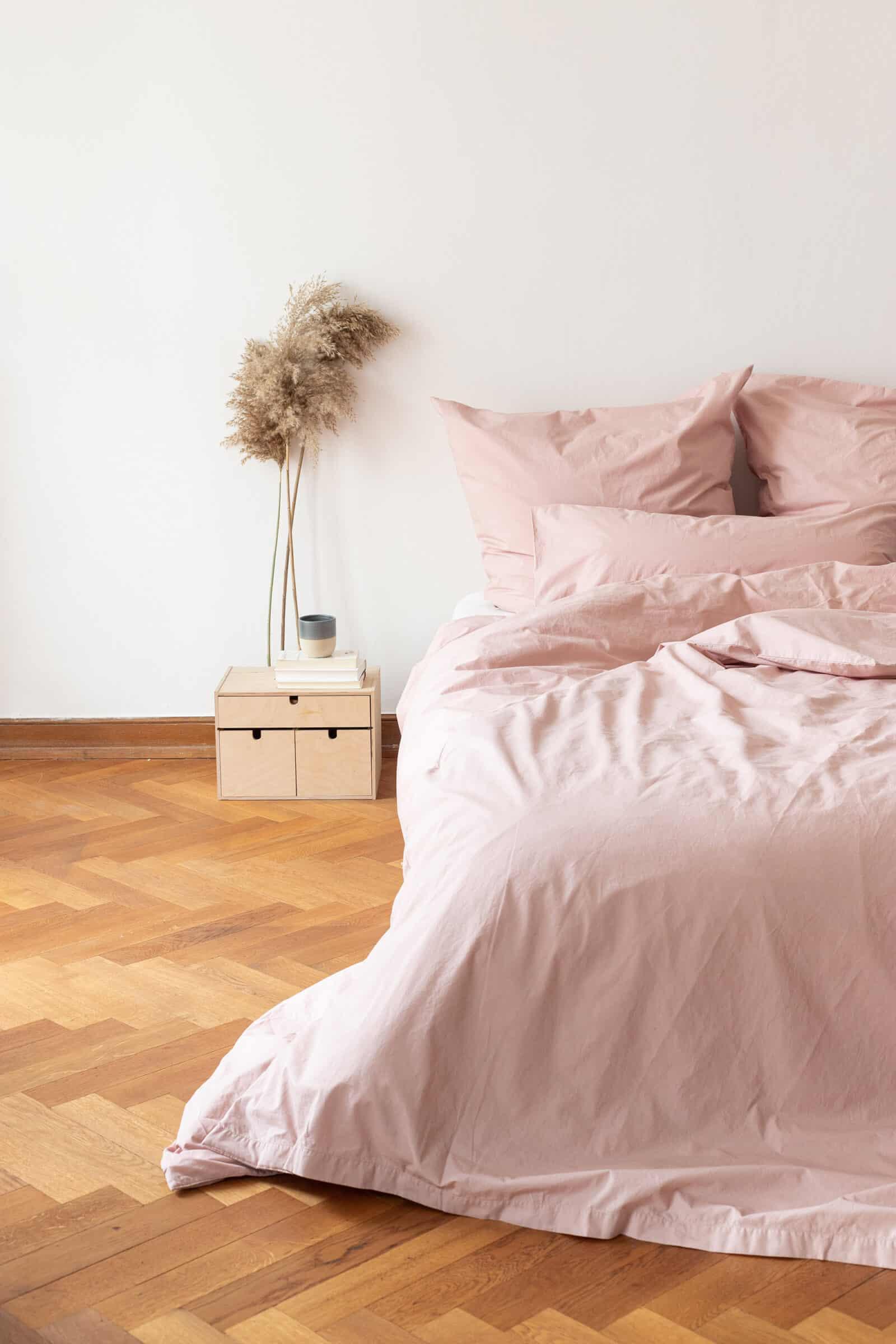 erlich textil Bettwäsche Perkal puder