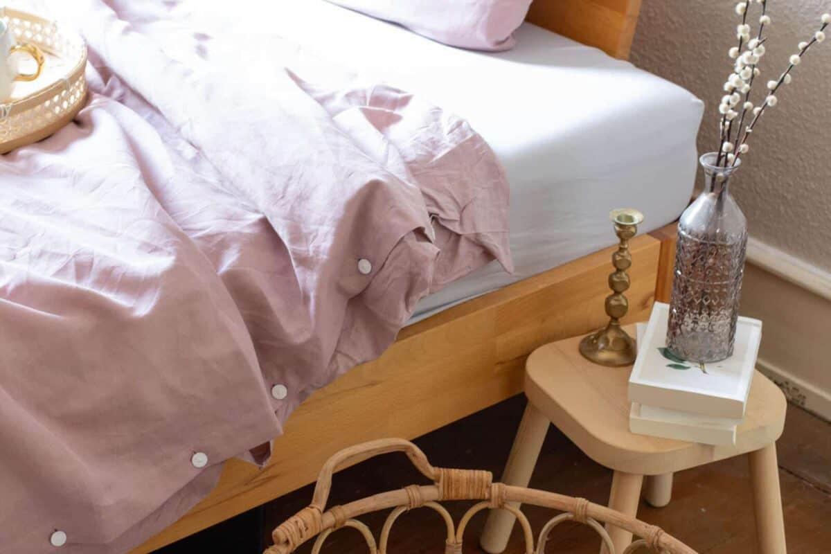 seit1832 nachhaltige Bettwäsche rosa