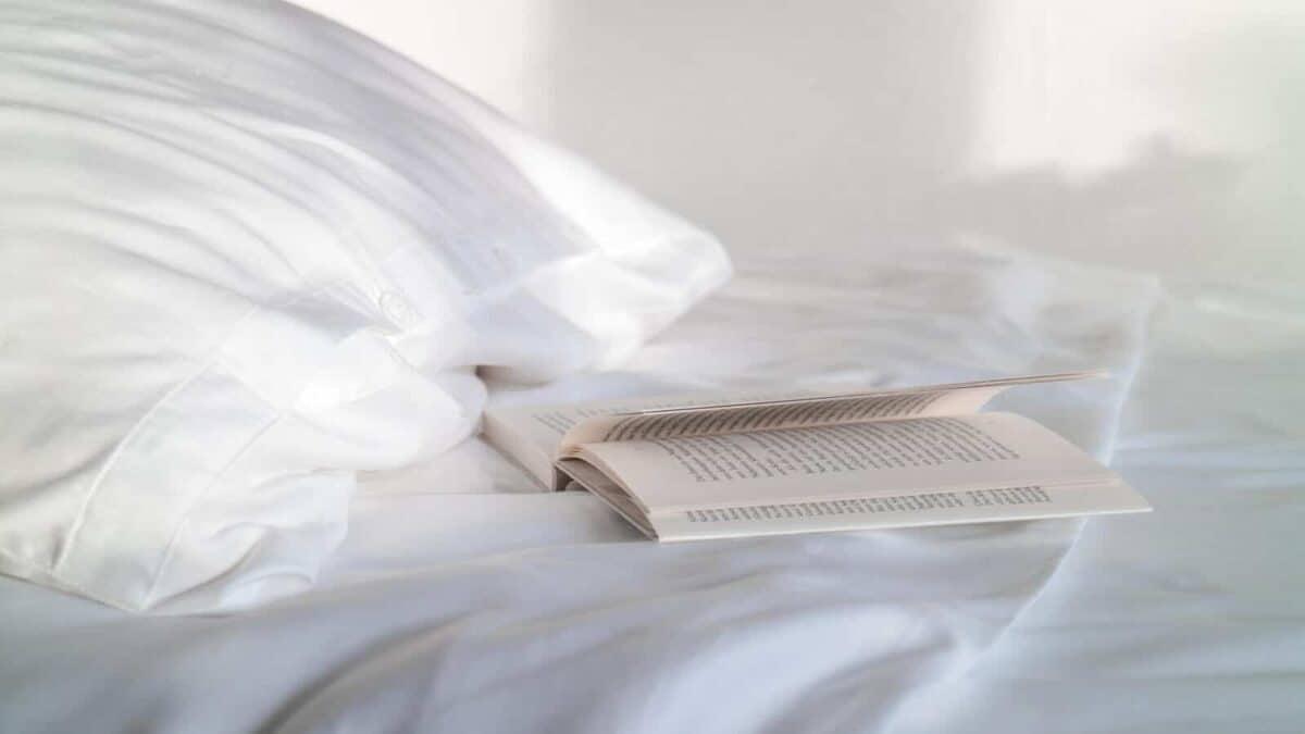 Seit1832 nachhaltige Bettwäsche weiß mit Buch